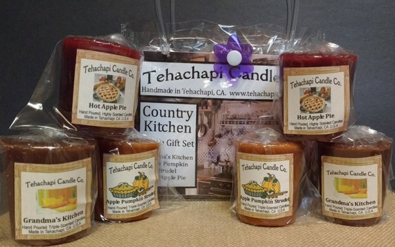 Votive - Scented Candle -Home Fragrance - Gift Set: Country Kitchen