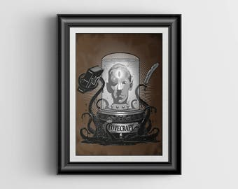 Lovecraft - signed Art Print - 8x10