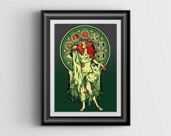 Zombie Nouveau miniprint - 4x6