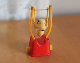 Vintage Snoopy Toy Flying Trapeze Peanuts Toy by Nine Star Vintage