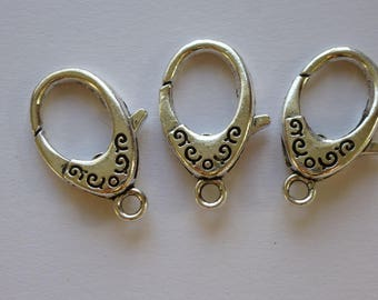 large clasps.  clasps    Silver tone.  30mm x 18 mm      set of 5  Lead and Cadmium free