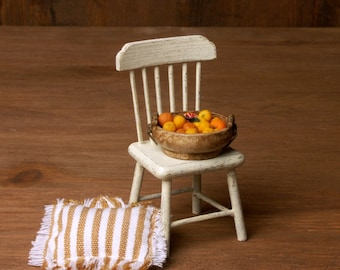 Shabby Chic Miniature Wooden Kitchen Chair for Your Dollhouse