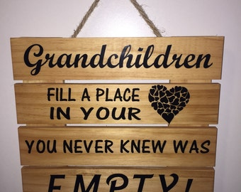 "11""x12"" wooden slat sign"