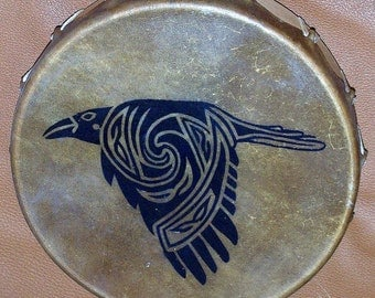Raven in Flight Native American Indian Tribal style Hoop/Frame/Hand Drum