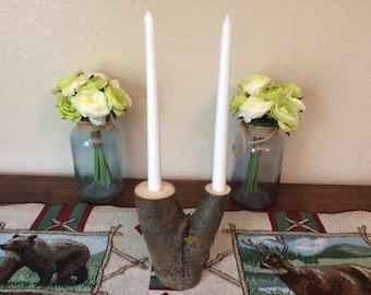 Rustic Aspen taper Candleholders!