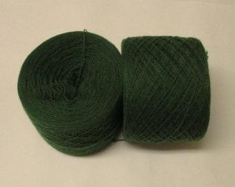 AVOCADO GREEN 100% Cashmere 2520 yards recycled yarn