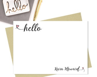 Note Cards-Personalized Stationary-5x7-Stationary-Personalized Stationary Gift Set-Personalized Note Cards-Note Card Set