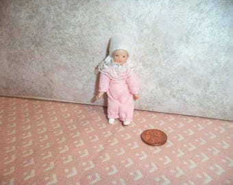 1:12 scale Dollhouse miniature porcelain baby girl