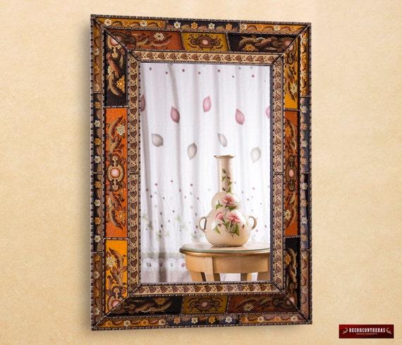 Extra Large Wall Mirror Decorative 'Golden Garden