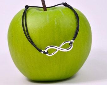 Cord infinity bracelet