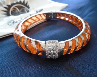 """Angelique de Paris Peach Mata Hari Sterling Silver Bracelet (7"""")"""