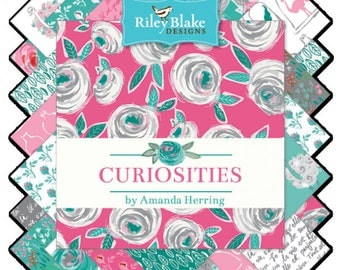 Curiosities FREE SHIPPING Fat Quarter Bundle by the Quilted Fish for Riley Blake