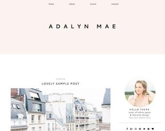 Responsive Blogger Template - Blogger Theme - Fashion Blog Design - Fashion Blogger - Lifestyle Blogger - Minimal Clean Blog