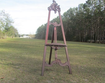 VINTAGE ARTIST Easel, Artist Supplies, photo prop, Art Display, Art tool, Wedding Display, Wood Easel