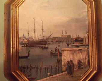 Pair Venetian Scenes by Canaletto