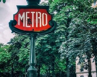 Paris Metro -  Paris, Metro, Iconic, Architecture, Colour Splash, Urban, Street Photography,  Fine Art Photograph