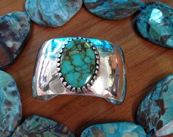Contemporary Sterling Silver Turquoise Bracelet