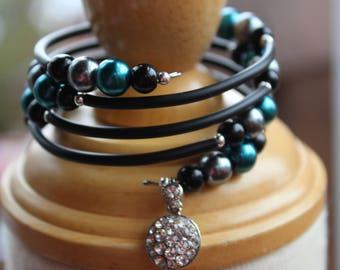 Bracelet tortillé, fil mémoire «Diamant glamour»