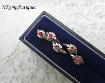 Antique silver ring x 5 childs real silver