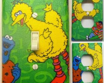 Sesame Street Light Switch Wall Plate Covers Nursery Kid Room Bathroom Bedroom Decor Big