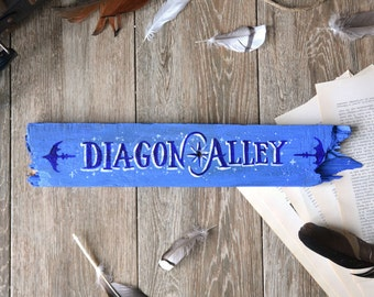 Diagon Alley - Movie Location Wooden Sign - street in London Harry Potter J.K. Rowling