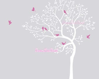 Nursery, Baby, children wall decal, wall decor, home decor, Wall Stickers-Birds on Tree nature Wall decal Wall sticker- home decor DK106