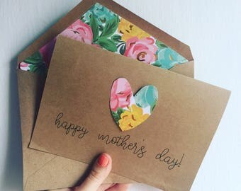 Mother's Day card with heart