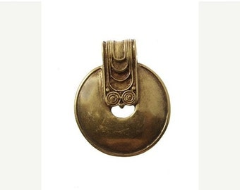 On Sale NOW 25%OFF Large Greek Ethnic Decorative Pendant - Antique Brass - Z3640 Qty1