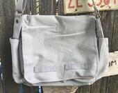 Canvas Laptop Messenger Bag, Gray, Cross Body,Shoulder Bag,iPad Bag,Carry All, Large Tote Bag, Laptop Bag, School Bag,Travel Bag, toe bag