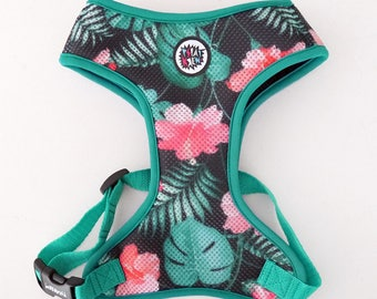 Dog Harness, Always Feeling Cool, Super Soft Psiakrew Tropical Monstera