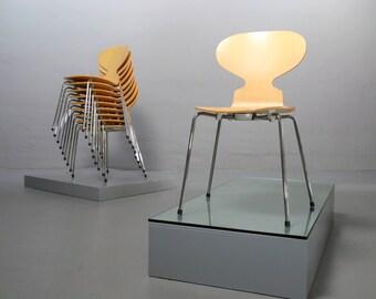 Pair (2x) Ant Chair 3101 Arne Jacobsen Fritz Hansen Ahorn Maple Ant 19% MwSt um 1995