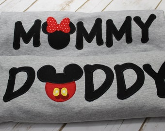 Micky Mouse Birthday/Mommy and Daddy Shirts/Birthday/ First Birthday Shirts/ Minnie Mouse/ Mickey Mouse/ Mom Shirt/ Dad Shirt