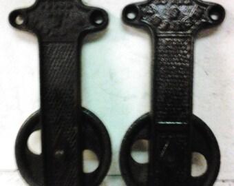 Cast iron door roller hinge