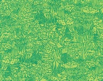 Green Wall Lawn in Ultramarine- Friedlander Lawn by Carolyn Friedlander for Robert Kaufman