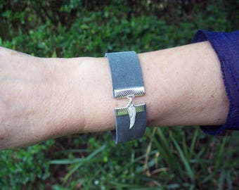 Grey Suede Bracelet Cuff