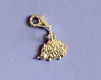 Silver Hedgehog Purse Charm,Silver Hedgehog Charm,Bag Charm,Hedgehog Charm Bracelet,Hedgehog Bracelet Charm,Silver Charm,Baby Hedgehog