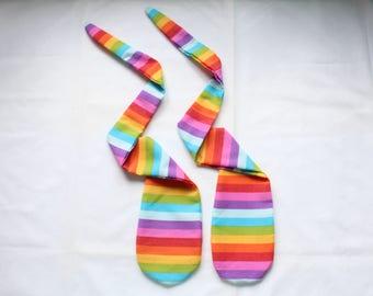 Handmade Fabric Poi, Practise Poi, Sock Poi, Cone Poi, Poi  Spinning, Poi Dancing, Poi Flow, Festival Toys, Rainbow Stripes, Empty Poi