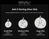 ADD DISK, Add a charm, Add a Disk, Sterling Disk, Personalized, Customized,  Mothers Necklace