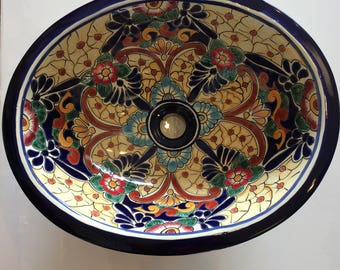 Free Shipping!  Hand-painted Talavera Sink