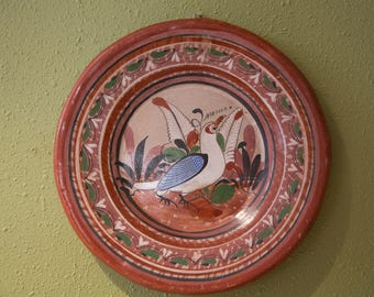 Vintage Mexican Tonala Plate- Small