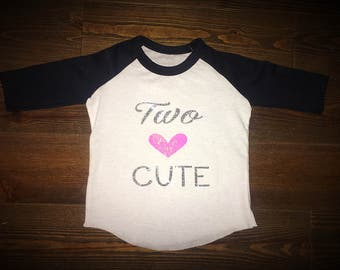 Two cute Birthday toddler shirt