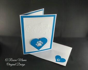 Dog Condolences Card - Sympathy Card - Dog Sympathy Card - Dog Bereavement Card - Handmade Sympathy Card - Loss of Pet Card - Loss of a Cat