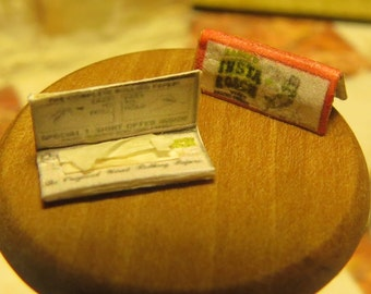 Randys Dollhouse Miniature Fancy Rolling Papers - Cigarette Papers - Paraphernalia Adult Collectible