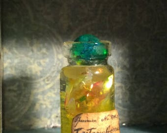 Bottled Fire Yellow Flames Magical Potion Ingredient Dollhouse Miniature