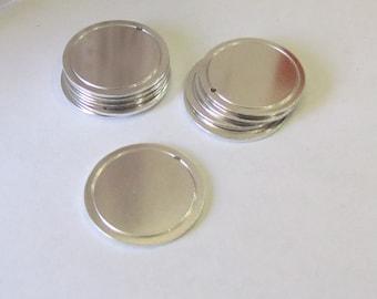 Circle Blanks//16G//1 1/4//Border blanks//blanks with hole//stamping blanks//stamping supplies//metal blanks//tumbled blanks//deburred