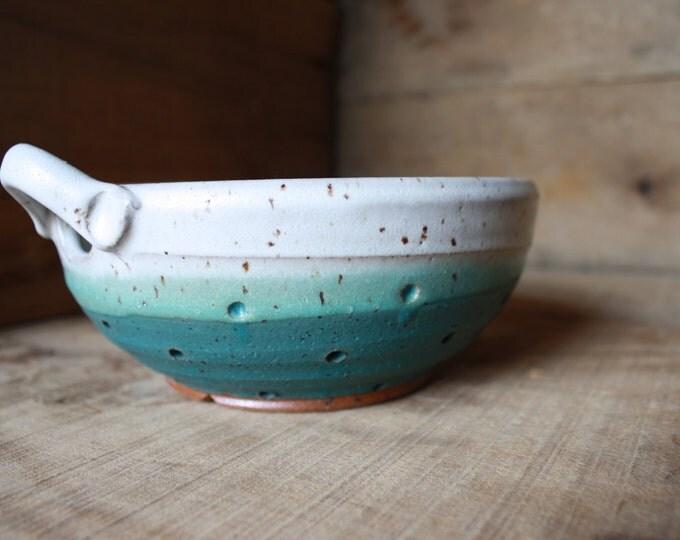 Custom Order - Berry Bowl - Ceramic Colander - KJ Pottery