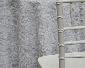 Patina Sheer Tablecloth In White   Ideal For Weddings U0026 Bridal Events