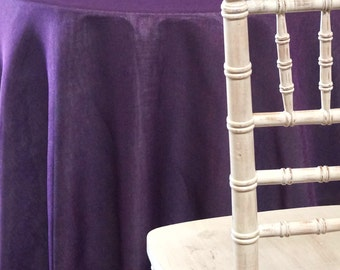 Imitation Burlap (100% Polyester) In Plum   Ideal For Events, Parties U0026