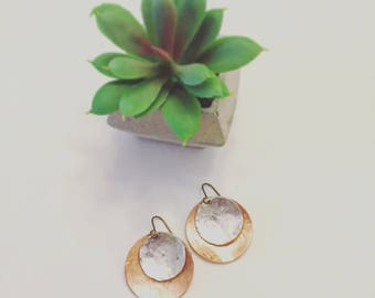 Hammered Layered Earrings