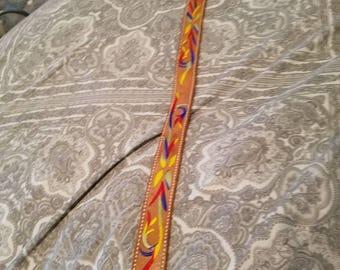 Vintage Leather Embroidered Belt